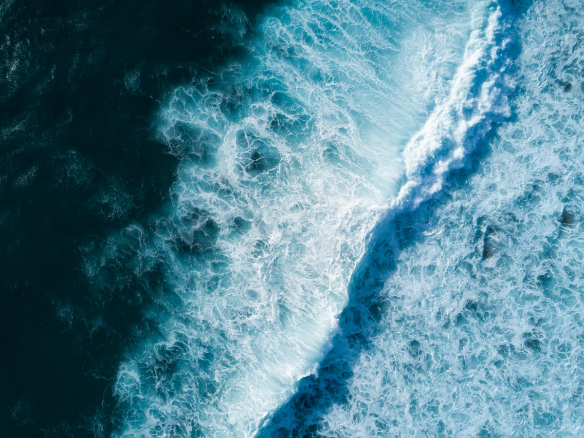 The raw power of the ocean.